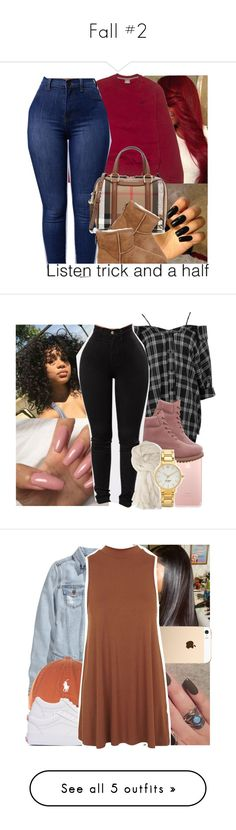 """""""Fall #2"""" by heavensincere ❤ liked on Polyvore featuring NIKE, Burberry, UGG Australia, Boohoo, Timberland, Forever 21, Kate Spade, cute, 2017 and fall2017"""