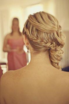 hair hair-inspiration another bridesmaid hair Popular Hairstyles, Pretty Hairstyles, Hairstyle Ideas, Braid Hairstyles, Latest Hairstyles, Perfect Hairstyle, Style Hairstyle, Hairstyles Haircuts, Fashion Hairstyles