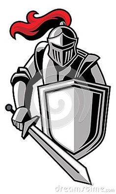 Illustration about Vector of knight with shield, suitable for your mascot. Illustration of kingdom, metal, helmet - 34561970 Knight Shield, Knight Armor, Shield Vector, Crusader Knight, Knight Logo, Hockey Logos, Armadura Medieval, Medieval Knight, Knights Templar