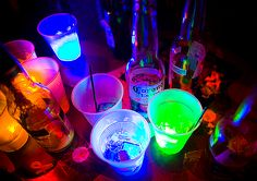 party life | edited neon colors beers drinks party life