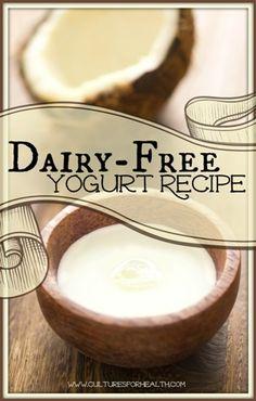 Dairy Free Yogurt - Plan to make coconut milk yogurt next week after my yogurt machine arrives - can't wait to try it out! Homemade Yogurt Recipes, Coconut Recipes, Dairy Free Recipes, Real Food Recipes, Snack Recipes, Homemade Recipe, Coconut Milk Yogurt, Dairy Free Yogurt, Sans Lactose