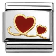 Best Friend red heart enamel Italian charm fits 9mm classic Italian charms