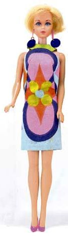 Past - Vintage Barbie Sunflower 1967. The doll reflects the current style at the time. (Fashion Doll Guide. 2006)