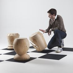 A Playful Design Reinterpretation: Chess Stools by Giorgio Bonaguro on @Freshome