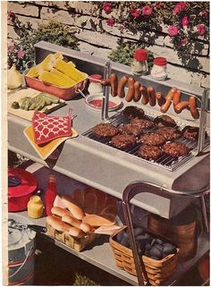 Stuffed Tomato and Barbecue Sauce Retro Recipes, Vintage Recipes, Vintage Food, Retro Food, Retro Vintage, Carne Asada, Festa Party, Vintage Cookbooks, Backyard Bbq