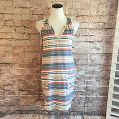 "Anthropologie Striped Shift by Porridge 100% cotton. Like new condition. 33""-35"" length. Front pockets. Anthropologie Dresses"