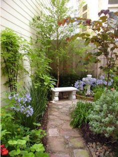 Lots in a small space. Height and trees too