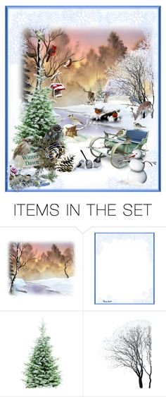 """""""Winter's Dawn"""" by aurorasblueheaven ❤ liked on Polyvore featuring art"""
