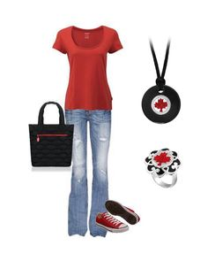 Canada Day Outfit - Want it! Especially love the jewellery! Canada Party, All About Canada, Cabin Chic, O Canada, Boy Hairstyles, Dress To Impress, Outfit Of The Day, What To Wear, Red And White