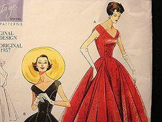 Retro 1950s Vintage Vogue Model 1957 Dress by PatternsFromThePast