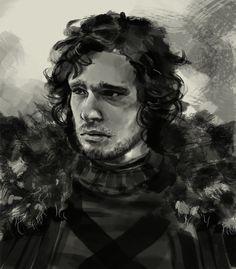 Jon Snow Game of Thrones drawing by XiaMan.deviantart.com on @deviantART