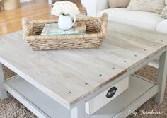 Ikea Hacked Barnboard Coffee Table Tutorial - City Farmhouse - MM Ching @LifeStyldLovely