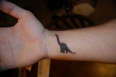 Dinosaur - Simple Wrist Tattoos