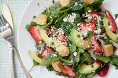 Summer strawberry salad with maple balsamic dressing recipe