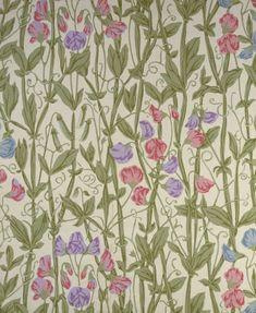 William Morris and Company. Wallpaper Sample Book, before 1917. sweet pea!