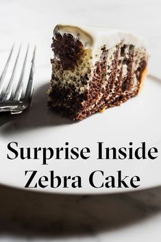 Earn your baking stripes with this surprising zebra cake.