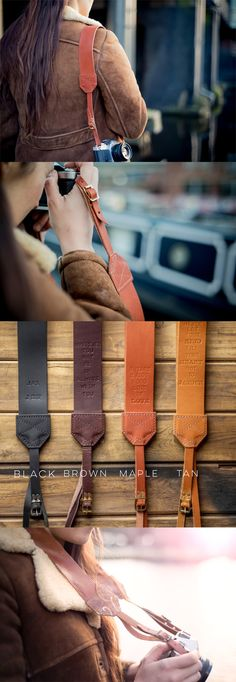 The BEST personalised leather camera straps you can buy!  Treat your love with the ultimate personal gift this Valentine's.