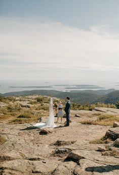 Acadia National Park Wedding. Cadillac Mountain. Elopement Inspiration, Wedding Photo Inspiration, Acadia National Park, National Parks, Silver Lake Sand Dunes, Desert Island, Park Weddings, Wedding Story, Outdoor Ceremony