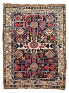 VAN-HAM Kunstauktionen Lesghi-Schirwan.  Circa 1900. 143 x 115cm.