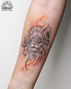 halfrealhalfdrawn lion ♌️ Daniela's first  thank you! Done at @debrartstudio . @dermalizepro .