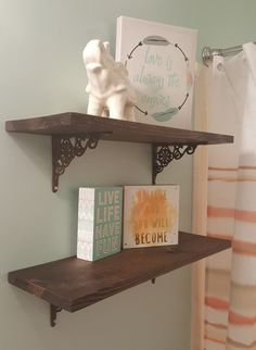 Loves The Find: Simple Rustic Shelving. DIY shelving for bathroom