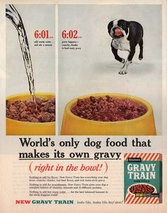 Dog Food Commercial With Covered Wagon