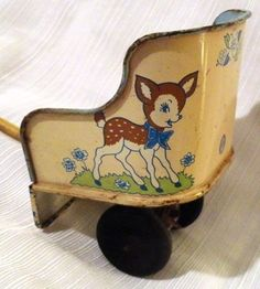 Bambi toy cart 1950's