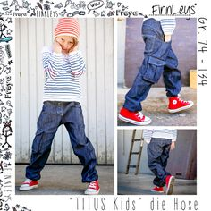 """Nähanleitungen Kind - """"Titus Kids"""" die Hose Gr. 74 - 134 von Finnleys - ein Designerstück von finnleys bei DaWanda"""
