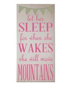 Cream & Pink 'Though She Be Little' Wall Art | Daily deals for moms, babies and kids
