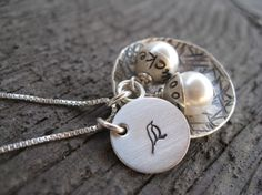 Mama Bird Nest Hand Stamped Sterling Silver by sTuckintheCoop