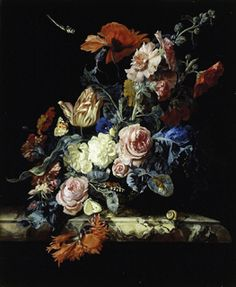 Willem van Aelst (1627 - in or after 1683), A Vase of Flowers (Click for larger version of this image)