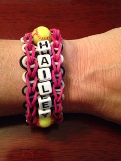 Softball Rainbow Loom