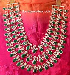 Multipurpose Diamond Jewellery by Shivika Jewelry Royal Jewelry, Emerald Jewelry, Diamond Jewelry, Gold Jewelry, Jewelery, Diamond Necklaces, Diamond Choker, Gemstone Jewelry, Gold Necklace