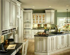 Schrock cabinets Maple Galena coconut with toasted almond finish. LOVE!