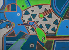KORZH Taras, SPACE, 2015, Acrylic on canvas, 100 x 75