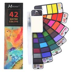 Art Drawing Watercolor Paints 42 Colors Set  Price: $ 23.98 & FREE Shipping   #happychild #happybaby #maternity #motherhood #baby #child