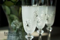 Romantické skleničky / Zboží prodejce ArtBach | Fler.cz Flute, Champagne, Tableware, Bohemia, Dinnerware, Tablewares, Flutes, Dishes, Tin Whistle
