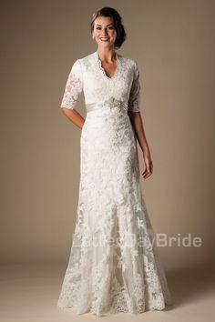 'Gwendolyn' modest gown, modest wedding, modest bride,