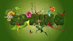 Spring Floral Typography Text Effects John Carter Of Mars, Garden Drawing, Most Beautiful Flowers, Text Effects, Green Trees, Photo Manipulation, Spring Flowers, Create Your Own, Typography