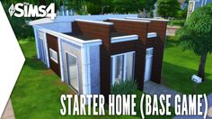 THE SIMS 4 SPEED BUILD #198   STARTER HOME BASE GAME