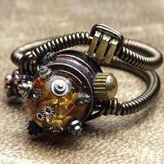 Fantastic rings! #jewelry #ring #steampunk steampunk jewellery