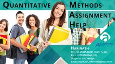 Assistance in Tasks of Quantitative Methods Academic Avenue Provides You Quantitative Methods Assignment Help for students with a wide range of online assignments help and writing services. Our Expert team of Quantitative Methods Assignment Help Services will help the students in getting good grade with quality and plagiarism free assignments. They are highly skilled expert …