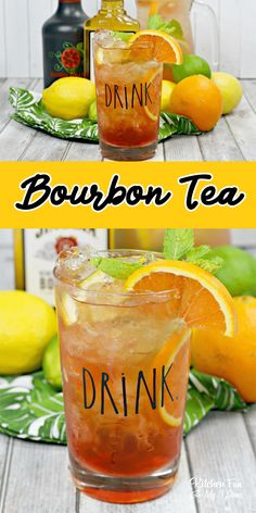 Back Porch Bourbon Tea cocktail recipe with fruit infused tea and Bourbon. Iced Tea Cocktails, Bourbon Cocktails, Cocktail Drinks, Cocktail Recipes, Party Drinks, Tea Party, Alcoholic Drinks, Sweet Tea Cocktail, Sweet Tea Vodka