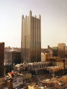 PPG Place:  This is what Hogwarts would look like if it were built today!  John Burgee Architects with Philip Johnson