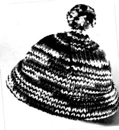 Knitted Ski Cap Pattern - Vintage Crafts and More