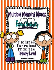 Break the Confusion of Everyday Words! Enter for your chance to win 1 of 3. Multiple Meaning Words  (75 pages) from Essential Reading / Language Skills on TeachersNotebook.com (Ends on on 10-01-2015) Develop multiple meaning words with pictures, explanations and practice exercises.   Great for classroom and ESL.