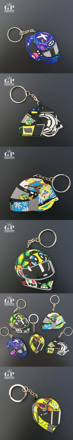 FORTYSIX 1pcs/lot 2017 Moto gp VR46 the doctor rossi motorcycle helmet keychain key rings llavero gift for VR46 Rossi fans