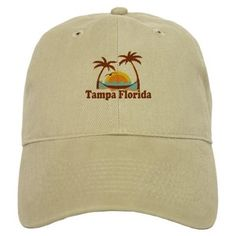 Tampa Florida - Palm Trees Design. Baseball Cap on CafePress.com