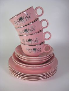 MidCentury Taylor Smith, Pink Dwarf Pine Set