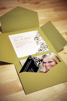 cute invite idea -make them regular envelope size to save on postage Graduation Open Houses, College Graduation Parties, Graduation 2016, Graduation Celebration, Graduation Cards, Grad Parties, Senior Invitations, Graduation Invitations, Invitation Ideas